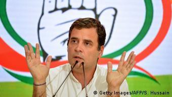 Indien Neu Delhi - National Congress Parteipräsident Rahul Gandhi
