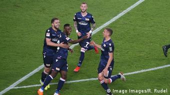 Fußball Relegation VfB Stuttgart vs. 1. FC Union Berlin Torjubel Union 1:1