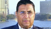 This undated photo provided by Al-Jazeera shows journalist Mahmoud Hussein in Cairo, Egypt. An Egyptian court on Thursday, May 23, 2019 has ordered the release of Hussein, detained since 2016 on allegations of spreading false news and defaming Egypt's reputation. Hussein, an Egyptian journalist working for the Qatar-based satellite network, was detained at the Cairo airport in December 2016, when he arrived on a family vacation from Doha. (Al-Jazeera via AP) |
