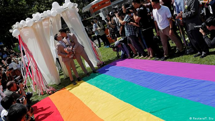 A pro same-sex marriage party