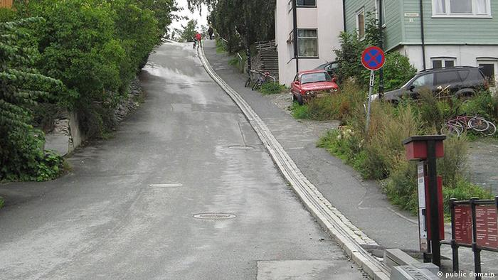 A bicycle lift up a hill in Norway