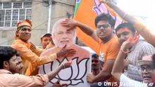 Indien Wahl 2019 | Westbengalen, Anhänger der Bharatiya Janata Party