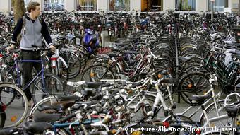 Стоянка велосипедов в немецком Мюнстере