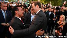 Nord-Mazedonien Zoran Zaev, Ministerpräsident & Aleksandar Vucic, Präsident Serbien