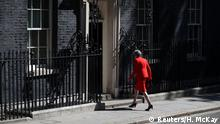 British Prime Minister Theresa May leaves after making a statement, at Downing Street in London, Britain, May 24, 2019. REUTERS/Hannah McKay