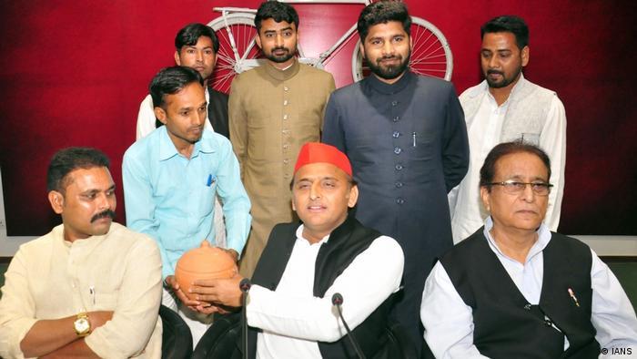 Indien Wahlen Akhilesh Yadav PK in Lucknow (IANS)