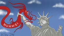 Die USA und China streiten um das große chinesische Konzern Huawei