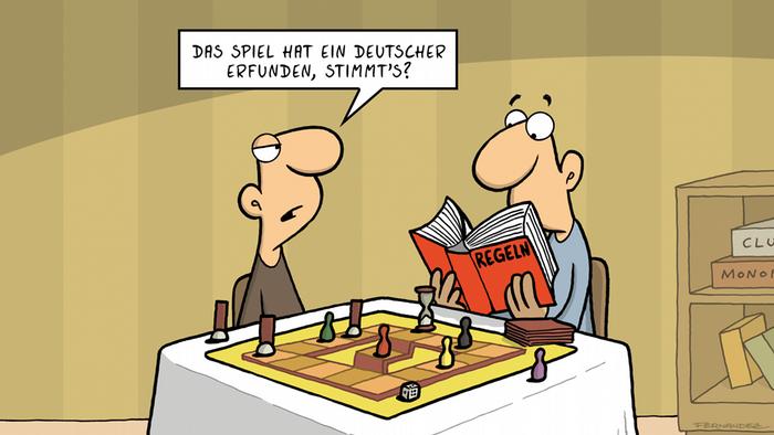 DW Euromaxx Comics von Fernandez | That´s so german Spielregeln | DEUTSCH