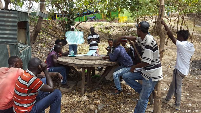 Training locals on riparian ecosystem restoration along the Ngong River in Kenya