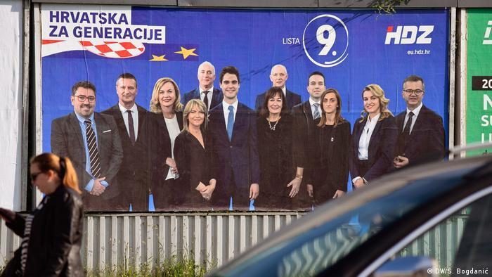 Kroatien Wahlplakat HDZ