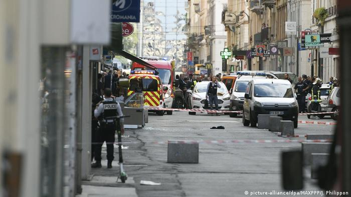 Site of explosion in Lyon