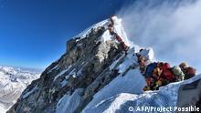 Mount Everest Massentourismus