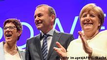 Deutschland Abschlusskundgebung der EVP zur Europawahl