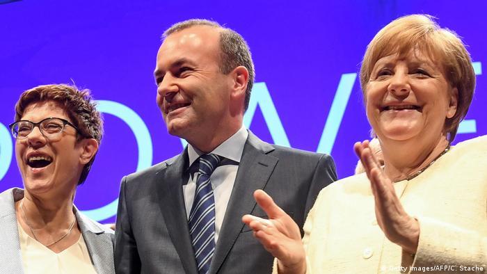 Deutschland Abschlusskundgebung der EVP zur Europawahl (Getty Images/AFP/C. Stache)