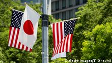 US and Japanese flags