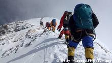 Nepal - Bergsteiger am Mount Everest