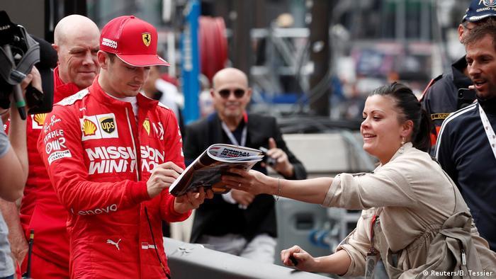 Formel 1 Großer Preis von Monaco   Ferrari Charles Leclerc