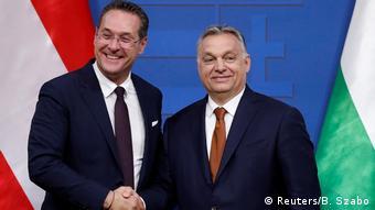 Ungarn Strache und Orban (Reuters/B. Szabo)