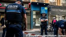 Sprengstoffanschlag Lyon Frankreich PK Polizei