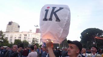 Proteste in Tirana Albanien (DW/A. Ruci)