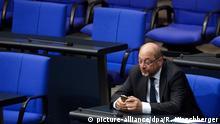 Deutschland Bundestag Martin Schulz