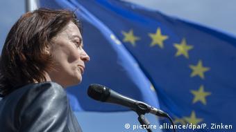 Europawahl 2019 l Katarina Barley, Spitzenkandidatin der SPD - Pulse of Europe (picture alliance/dpa/P. Zinken)