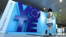 Europawahl 2019 l Werbetafel für die EU-Wahlen in Brüssel
