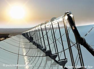 Solarspiegel, Sonne am Horizont (Quelle: dpa)