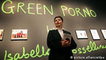 Rossellini promoting her series 'Green Porno'