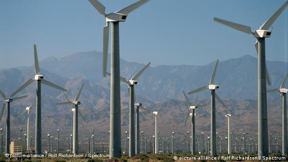 Vjeternjače u Palm Springsu u Kaliforniji