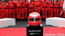 Formula One F1 - Monaco Grand Prix - Circuit de Monaco, Monte Carlo, Monaco - May 26, 2019 General view of a tribute to Niki Lauda before the race REUTERS/Gonzalo Fuentes