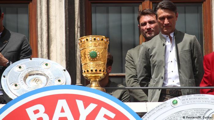 Braća Kovač s peharima njemačkog prvenstva i Kupa DFB-a