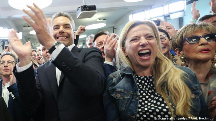 Europawahl - Österreich ÖVP Jubel (picture-alliance/dpa/APA/G. Hochmuth)