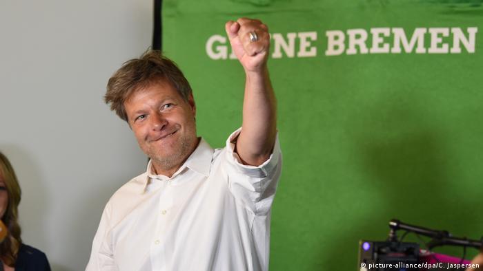 Deutschland | Bürgerschaftswahl Bremen | Robert Habeck (Grüne) (picture-alliance/dpa/C. Jaspersen)