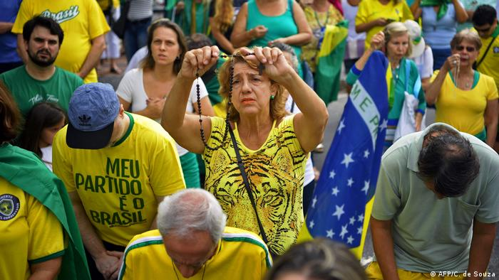 Apoiadores de Bolsonaro no Rio