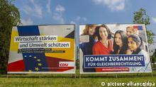 Deutschland | Wahlplakat Europa-Wah 2019 | SPD und CDU