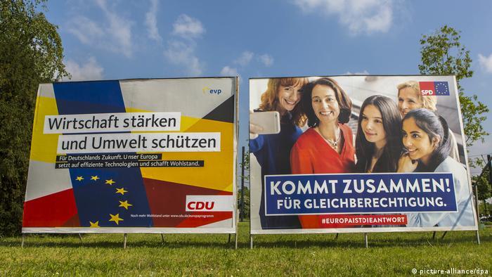 Propaganda da CDU e do SPD: parceiros de coalizão na Alemanha. Mas por quanto tempo?