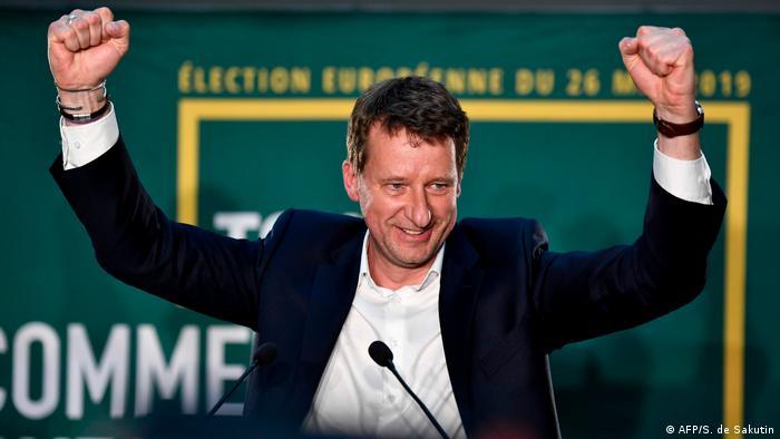 Frankreich Europawahlen Yannick Jadot Grüne Jubel
