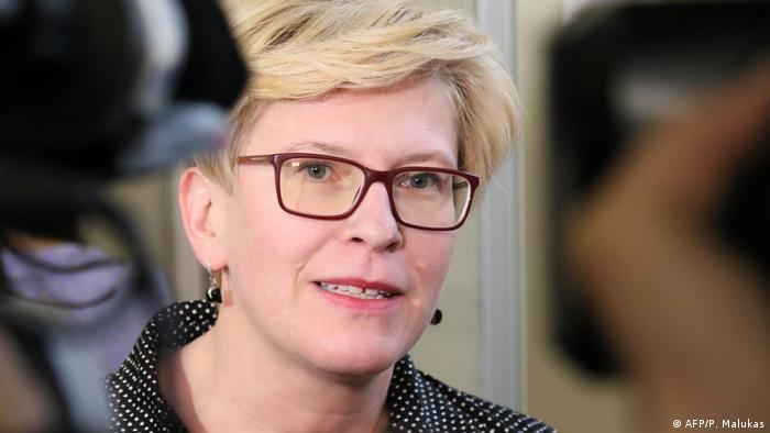 Litauen Präsidentschaftswahlen Ingrida Simonyte (AFP/P. Malukas)