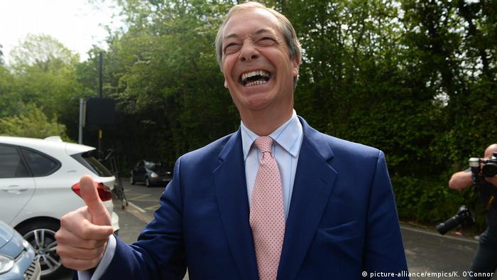 Großbritannien Nigel Farage in London