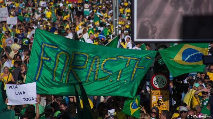 Protestos pró-Bolsonaro na Avenida Paulista, em São Paulo