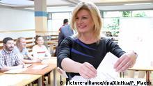 Kroatien Europawahl -Kolinda Grabar-Kitarovic