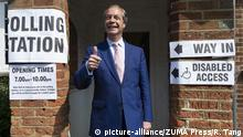 23.05.2019 May 23, 2019, Biggin Hill, UK: Brexit party leader NIGEL FARAGE arrives at a polling station in Biggin Hill to vote in the European Elections. (Credit Image: © Ray Tang/London News Pictures via ZUMA Wire |