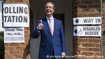 Ο Φάρατζ, εκλογικό τμήμα, Αγγλία