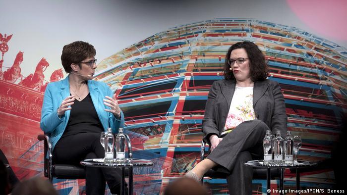Annegret Kramp-Karrenbauer und Andrea Nahles