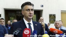 Kroatien EU Wahlen Andrej Plenkovic Premierminister