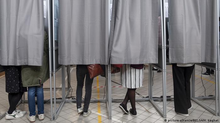 Belgien Brüssel EU Wahl - Wahllokal