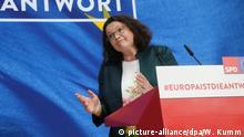 Andrea Nahles Europawahl - Berlin SPD