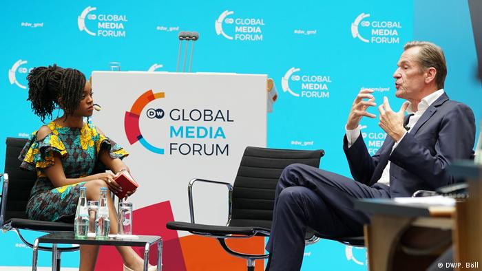 Talk Mathias Döpfner (CEO Axel Springer) and Edith Kimani (Deutsche Welle)