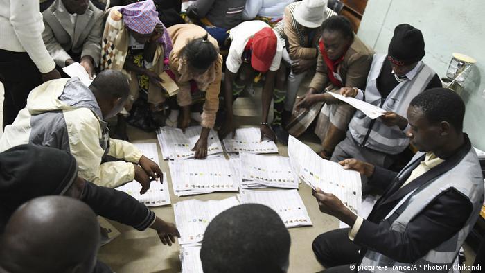 Malawai Blantyre - Stimmauszählung nach Wahl